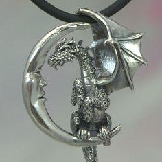 Dragon Pendant in Sterling Silver Lunar Dragon от MysticSwan