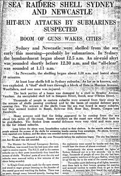 Sydney & Newcastle in NSW, and Darwin in the Northern Territory all suffered attacks by the Japanese during WW2. Darwin suffered the most, being bombed a total of 64 times during the war. The first attack on Darwin was led by the same Japanese Commander responsible for the attack on Pearl Harbour ten weeks earlier.