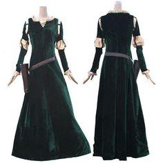 329174a9 Brave Merida Cosplay Costume Princess Merida cosplay Dress For Adults