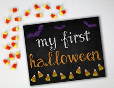 MY FIRST HALLOWEEN Photo Prop  8x10 Printable  by AlluringPrints