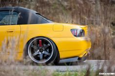 Yellow S2000 with TE37SL