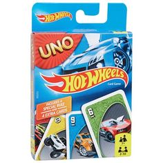 The Hot Wheels UNO Card Game lets you enjoy classic UNO fun mixed with cool Hot Wheels cars. The usual UNO rules apply, but there is a special rule and 4 Uno Card Game, Uno Cards, Card Games, Student Lounge, Weird Toys, Games Images, Ghostbusters, New Toys, Online Games
