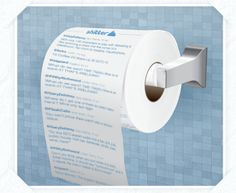 Print your twitter feed on toilet paper? There's an app for that. Duh.
