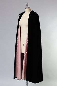 "1950s Opera Coat / Incredible Dior ""New Look"" Velvet Opera Coat"