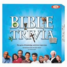 BIBLE TRIVIA GAME at Games by James. The Bible Trivia Game has over 700 trivia questions that challenge players to relive the history, heroic characters, and inspirational messages of the Old and New Testaments. For players or teams. Ages 7 and up. Youth Ministry Games, Youth Games, Youth Activities, Kid Games, Ministry Ideas, Bible Games, Bible Trivia, Family Game Night, Family Games