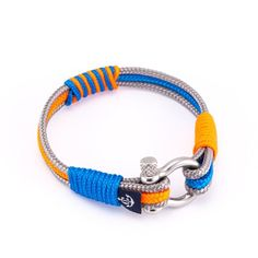 This nautical bracelet from the Summer Breeze collection is simple and elegant and can be worn with sport, smart, or casual outfits. The lock is made of stainless steel and holds the bracelet secure on your wrist, no matter what you go through. Each bracelet is hand crafted and comes packed in a pi