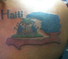Tattoo of the island of Haiti