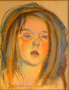 Child portrait pastel painting by Polish painter by TanabeStudio