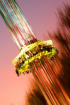 amusement park in the summer. :)