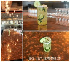 DIY Inspiration: Firefly Kitchen And Bar...Penny Counter top!!!