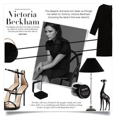 """""""victoria beckham:total black look"""" by sophiejf ❤ liked on Polyvore featuring Victoria Beckham, Max&Co., Giuseppe Zanotti, NYX, Eddie Borgo, Lene Bjerre and Torre & Tagus"""