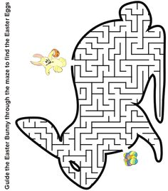 Printable Easter bunny maze to find the eggs worksheet – Printable Coloring Pages For Kids Make your world more colorful with free printable coloring pages from italks. Our free coloring pages for adults and kids. Easter Puzzles, Easter Worksheets, Easter Printables, Easter Art, Hoppy Easter, Easter Crafts, Easter Bunny, Easter Coloring Sheets, Easter Colouring