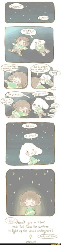 undertale. Worth that description, perhaps Chara is a star.  . . Or frisk