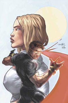 Cyclops and Emma Frost by Salvador Larocca