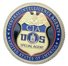 Central Intelligence Agency CIA Gold Plated With Plastic Case For Collection Challenge Coin/Medal Challenge Coins For Sale, Police Challenge Coins, Us Military Medals, Military Weapons, Military Officer, Law Enforcement Badges, Federal Law Enforcement, Central Intelligence Agency, Coin Design