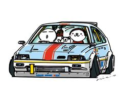 """CRAZY CAR ART """"CRX"""" original characters """"mame mame rock"""" / © ozizo Official web shop """"STAY CRAZY (in Society6)"""" Official web shop """"ozizo(in Redbubble)"""" """"Crazy Car Art"""" Line stickers """"Crazy car Art"""" Telegram stickers"""