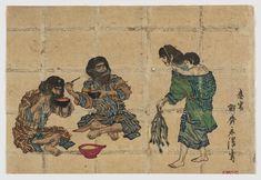 Scene of Ainu life, ca. 1880s by Kobayashi Eitaku