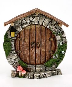 Top Collection Miniature Fairy Garden & Terrarium Charming Round Door Decor, Small A thoughtful gift perfect for home, garden or terrariums This product measures H: W: Cast in quality designer resin Hand painted and sculpted in amazing detail Fairy Doors On Trees, Fairy Garden Doors, Fairy Garden Houses, Fairy Gardening, Gnome Door, Gnome House, Polymer Clay Fairy, Round Door, Clay Fairies