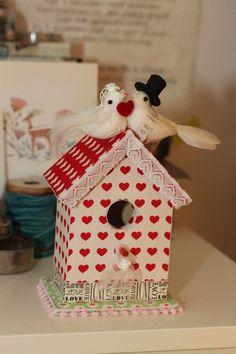 Vogelhuisje voor een liefdespaartje / Birdhouse babbelzzz.punt.nl