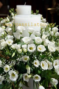 Lysianthus wedding canlde Candles, Table Decorations, Flowers, Wedding, Furniture, Home Decor, Valentines Day Weddings, Decoration Home, Room Decor