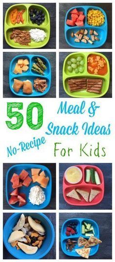 Kid-Friendly Meal and Snack Ideas- NO RECIPES Needed 50 healthy meal and snack ideas for kids that require minimal cooking and no recipe! healthy meal and snack ideas for kids that require minimal cooking and no recipe! Kids Cooking Recipes, Baby Food Recipes, Snack Recipes, Kid Cooking, Jello Recipes, Whole30 Recipes, Vegetarian Recipes, Cooking Light, Cooking Classes