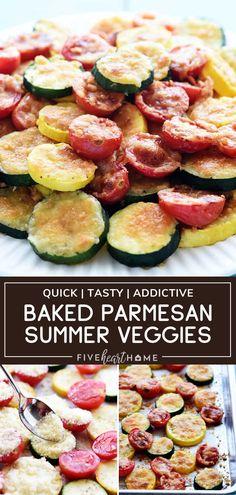 Baked Parmesan Summer Veggies