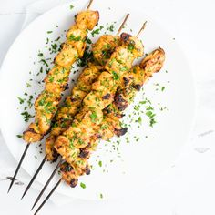 Grilled Mango Curry Chicken Skewers are an upscale outdoor weeknight or weekend dinner recipe! Chicken thighs are marinated in a mango, curry marinade and then skewered. They are grilled to a charred perfection and are ready to. Fried Chicken Sandwich, Grilled Chicken Recipes, Appetizer Recipes, Dinner Recipes, Appetizers, Grilling Recipes, Cooking Recipes, Mango Curry, Corn Beef And Cabbage