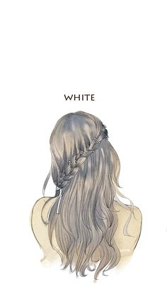 My color: White Anime Girl Drawings, Art Drawings Sketches, Cute Drawings, Beautiful Fantasy Art, Beautiful Anime Girl, Emo Anime Girl, Anime Devil, Whatsapp Wallpaper, Cute Cartoon Girl