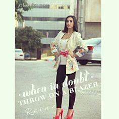 New Arrival ♡ Item: Blazer Color: Same As Photo Size: 36 - 46  Mob: +962 798 070 931  Tel: +962 6 585 6272   #Reine #BeReine #BeFashion #BeChic #InstaReine #LoveReine #Fashion #Fashionista #FashionAddict #Diva #ReineWorld #ReineIt #LoveAmman #BeAmman #Jordan #LoveJordan #Kuwait #KSA #Dubai #BeirutFashion #Modesty #Modeling #EidCollection #InstaRamadan #RamadanCollection #InstaEid