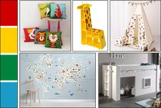 Which colours are best for your child's bedroom or playroom? J&D Design delve into colour psychology to can help you select a suitable hue for the walls and furnishings. Accent Colors, Bold Colors, Colours, Colour Psychology, Yellow Words, Mid Sleeper Bed, Pastel Punk, Ball Chair, Kidsroom