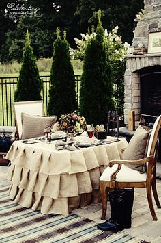 Ralph Lauren inspired outdoor dinner for two :: Hometalk