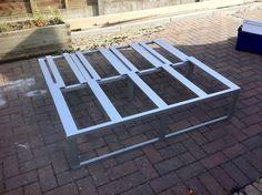 Aluminum frame bench slides out for bed mode Page 9 - VW Forum - VW Forum Camper Beds, Tiny Camper, Car Camper, Camper Van, Van Conversion Project, Horse Box Conversion, Camper Conversion, Vw Transporter Camper, Cargo Trailer Camper