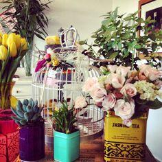 Foto festa jardim, vasos, flores, decoração do baile garden party, vases, flowers
