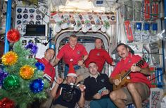 crew on the International Space Station? Winter Holidays, Christmas Holidays, Celebrating Christmas, Chris Hadfield, Nasa Astronauts, International Space Station, Space Shuttle, Clothes Horse, Embedded Image Permalink