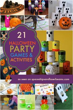 21 Halloween Party Games and Activities via @spaceshipslb