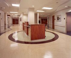 Non Directional Homogeneous Vinyl Flooring Use In Hospital