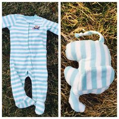 Keepsake Elephant - Memory Stuffed Elephant made from an outfit of your choice including baby outfit