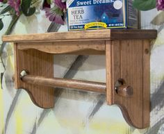Small Furniture, Rustic Furniture, Wooden Shelves, Wall Shelves, Frame Wall Decor, Frames On Wall, Wood Valence, Kitchen Towel Rack, Towel Racks