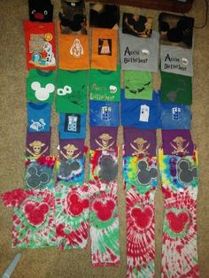 Disney shirts and Universal Studios shirts I MADE!  So excited to wear these! diy disney shirts and diy universal studios shirts and diy tardis shirts diy freezer paper shirts homemade screenprint