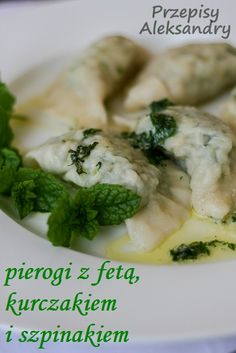 Polish Recipes, I Want To Eat, Tortellini, Dumplings, Feta, Side Dishes, Food And Drink, Cooking Recipes, Chicken