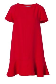 VALENTINO  Crimson Red A-Line Dress