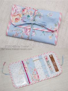 Travel Jewelry Clutch Tutorial (Make It and Love It) Clutch Tutorial, Jewelry Roll, Jewelry Case, Yoga Jewelry, Diy Jewelry, Sewing Hacks, Sewing Tutorials, Sewing Tips, Bag Tutorials