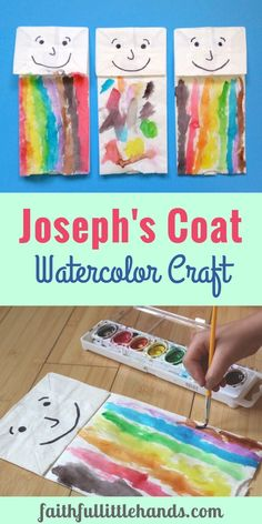 Joesphs Coat Craft Watercolor Paper Bag Puppet
