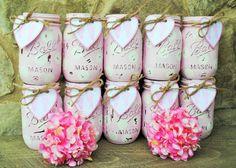 Mason Jar Baby Girl Shower Centerpieces Shabby by charmcitycharm