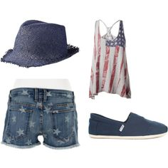 forth of July outfit, created by patony on Polyvore