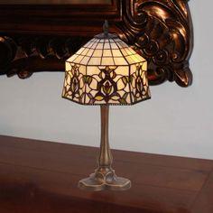 Lámpara de mesa Tiffany Hexa