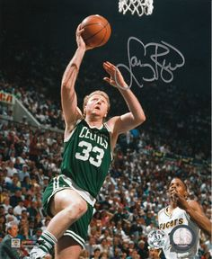 Larry Bird signed Boston Celtics action lay-up 8 x 10 photo. Item comes with the Larry Bird personal tamper-proof hologram and tamper-proof numbered hologram which can be verified online. Celtics Basketball, Basketball Legends, Sports Basketball, Basketball Players, Jordan Basketball, College Basketball, Larry Bird, Celtic Pride, Boston Sports