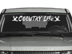 Decals By Us - Country Life Windshield Decal, $13.00 (http://www.decalsbyus.com/country-life-windshield-decal/)