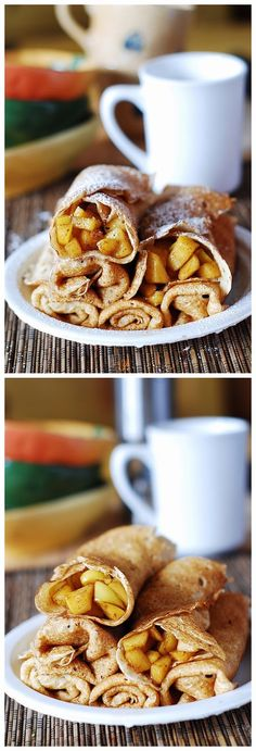 Apple cinnamon crepes, or apple pie – in a crepe! ~ Chocolatable