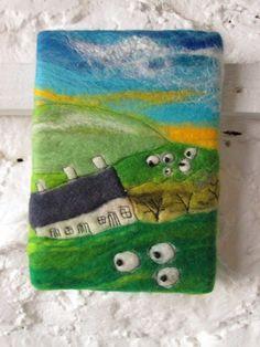 felt art Welsh landscape £16.00